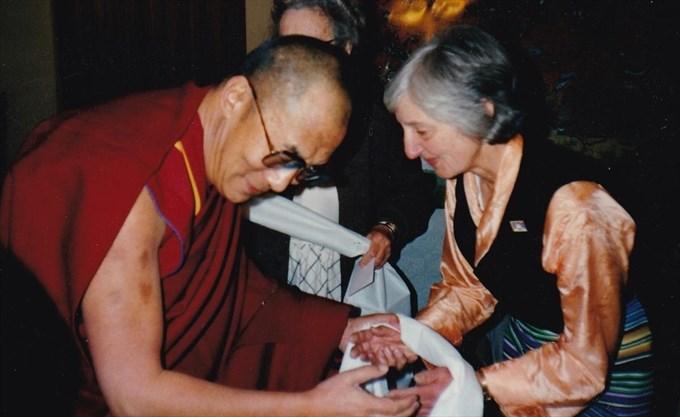 Vivian with Dalai Lama