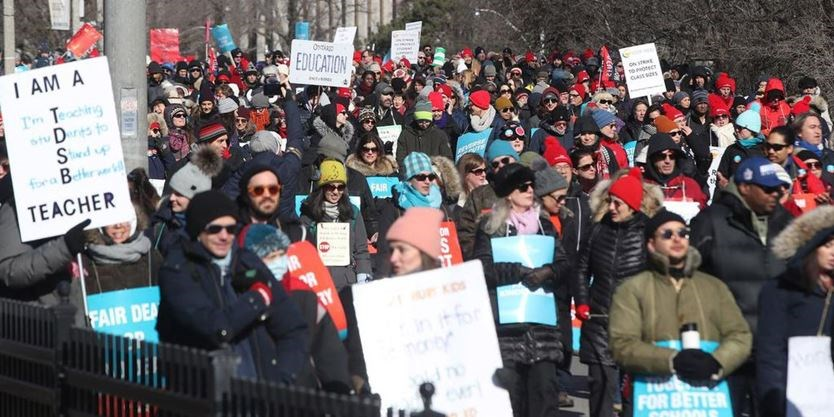 Teachers Protest At Queen S Park Expected To Impact Traffic Toronto Com
