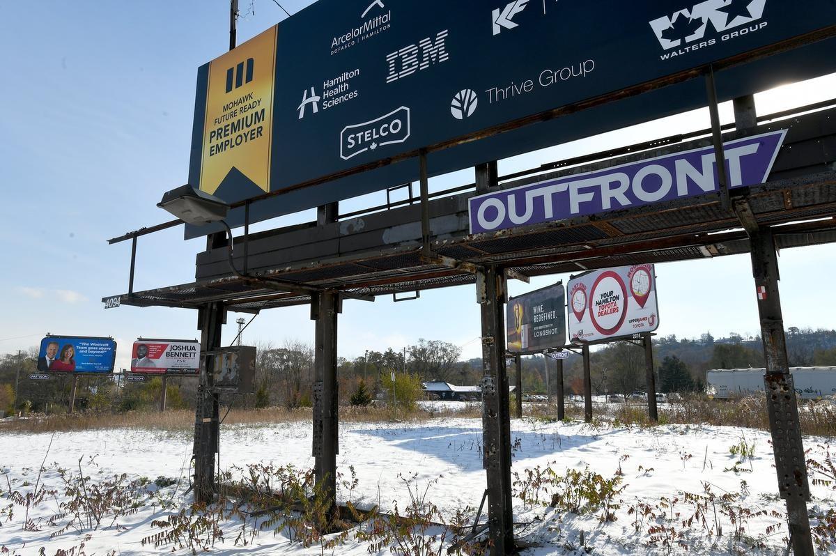 Three billboards inside Hamilton, Ontario