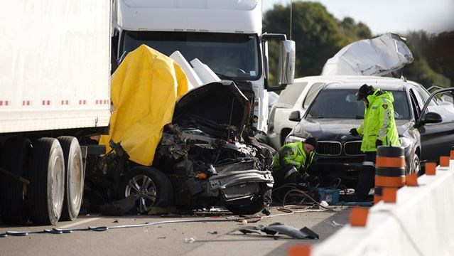 Car Accident On  Westbound Nov