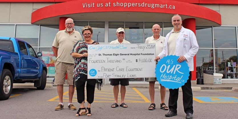 Lions, Shoppers continue STEGH support