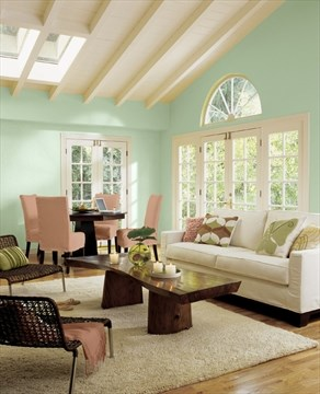 Lemon Sorbet and other pastels are yummy paint colours for spring
