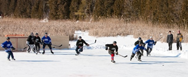 pond hockey for a community cause mississaugacom