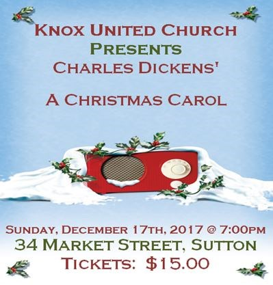 knox united church a dramatic reading of charles dickens a christmas carol on december 17 2017