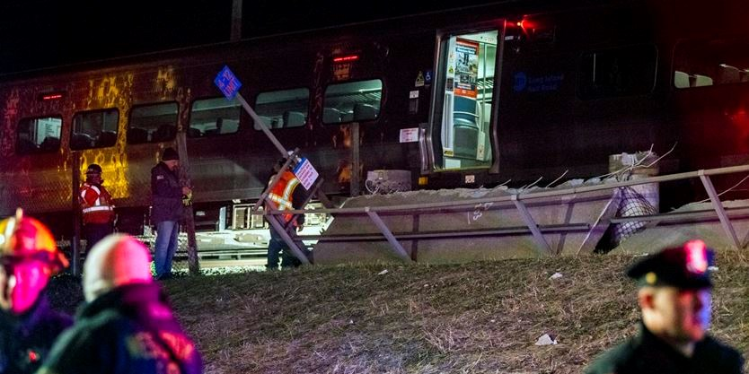 Three killed in train-vehicle collision on Long Island