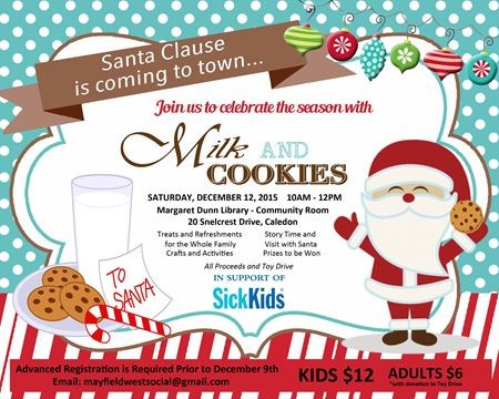 Milk And Cookies With Santa For Sick Kids On December 12 2015