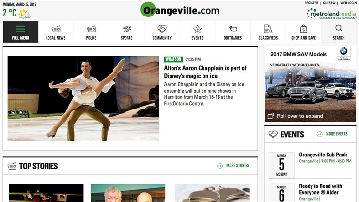 you can post your own community event on orangeville com metroland photo