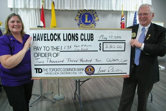 LCIF wowed by Havelock Lions' cheque | Orangeville com