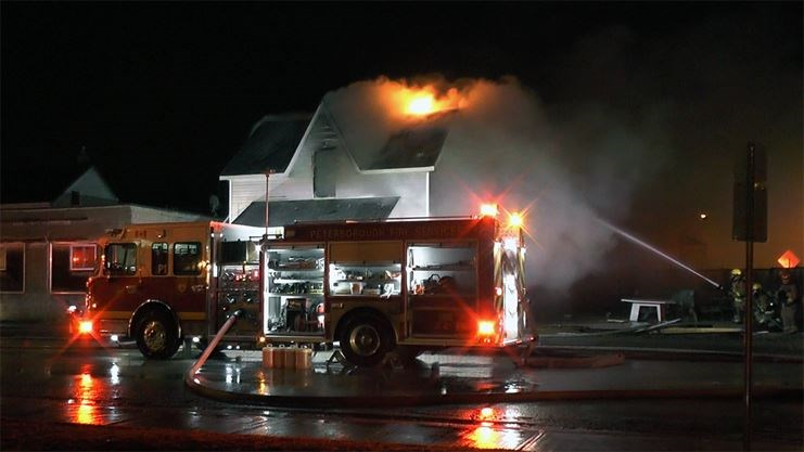 UPDATE -- Police investigate arson after former bikers