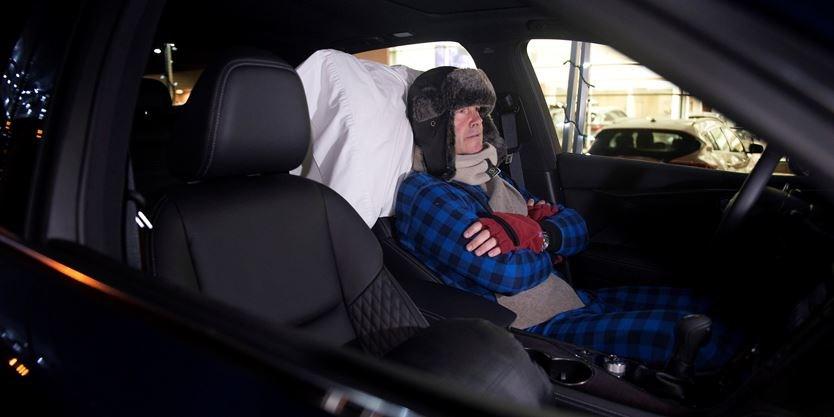 Oakville Man Sleeps In Car Seven Nights To Gain Homelessness - In car