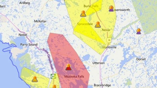 Power Out To 16 000 Homes In Muskoka Lakes Bracebridge Huntsville