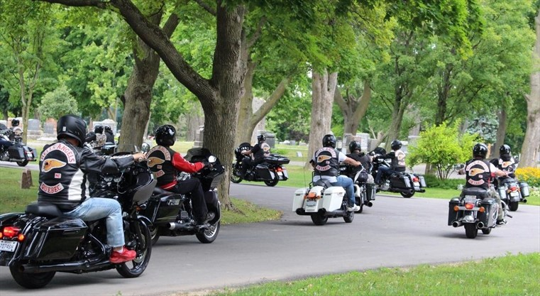 Hells Angels gather for Niagara funeral