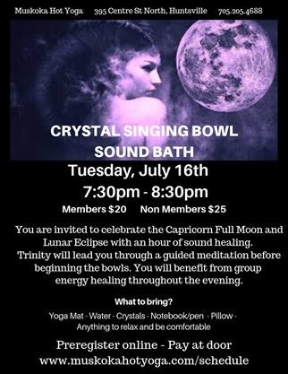 Sound Healing with Crystal Singing Bowls on July 16,2019