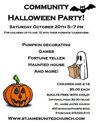Community Halloween Party on October 20,2018   Mississauga.com