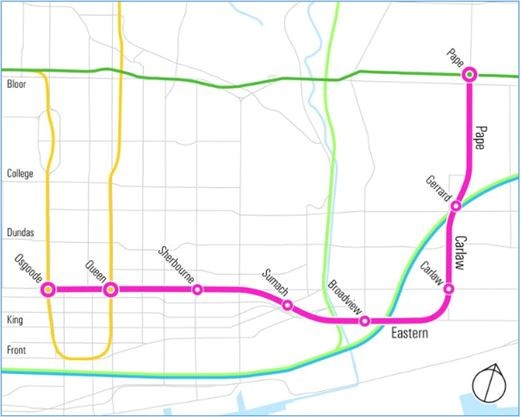 Toronto Subway Map Yonge Line.Ttc Subway Relief Line Needs Close To 7 Billion For Eight Stations