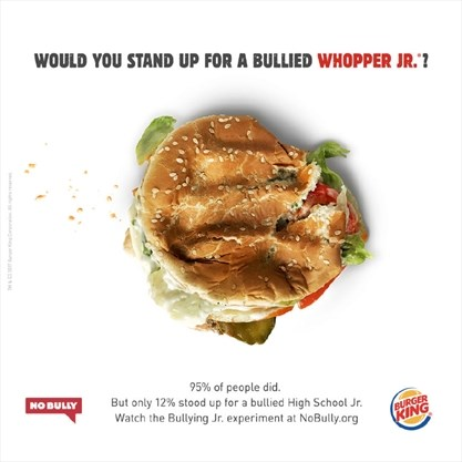 Burger King bullies a Whopper Jr  so you'll stand up to bullies
