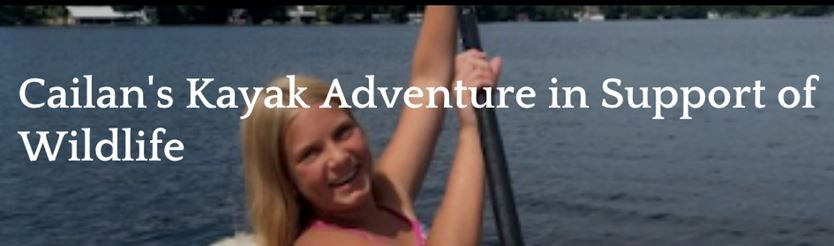 Cailan's Kayak Adventure in Support of Wildlife