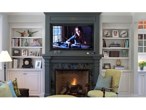 Safely Mount A Flat Screen Television Above Fireplace Mantle