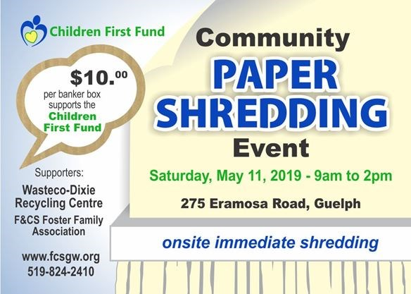 Paper Shredding Event on May 11,2019 | GuelphMercury com
