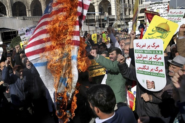 Angry protesters demonstrate against Trump across Muslim world