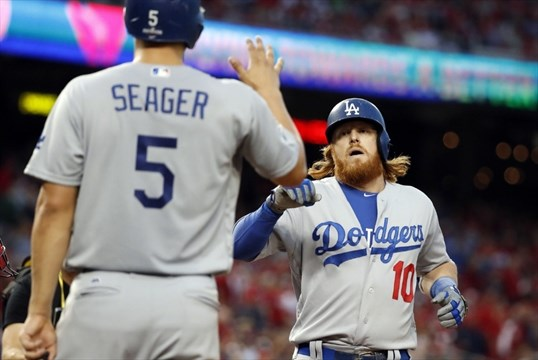 Kershaw, Seager, Turner lead Dodgers past Nats, 4-3, in Game 1 of