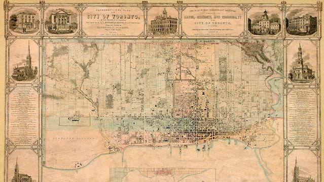 Map Of Victorian England.Victorian Era Toronto Maps Now Available Online Toronto Com