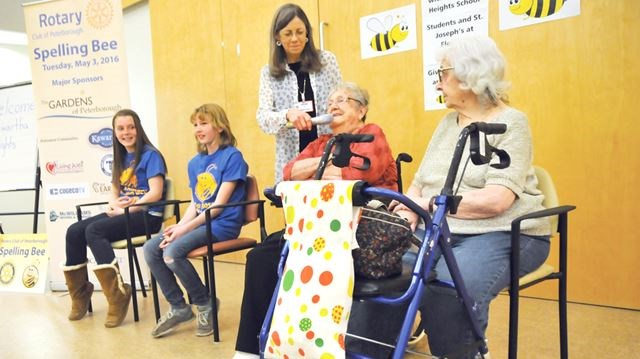 Students and seniors practice for Peterborough Rotary Club's