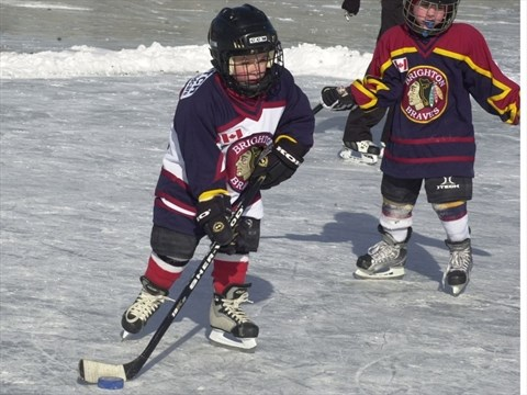 brighton tykes play pond hockey northumberlandnewscom