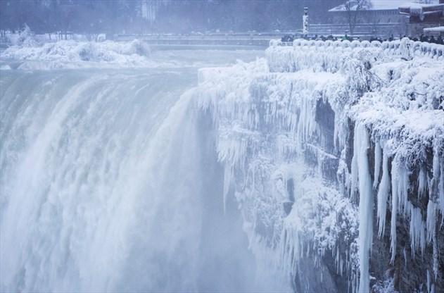 People Used To Walk Across Frozen Over Niagara Falls An