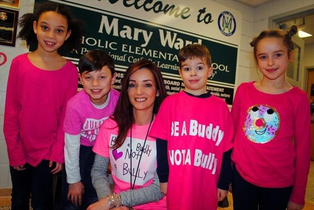 Stop Bullying Speak Up Pink Shirt Day Anti-Bullying Long Sleeve Kids T-Shirt
