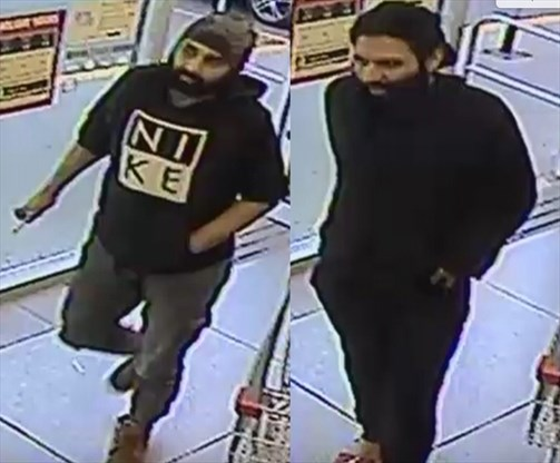 STOLEN PLATES: Major theft from Shoppers Drug Mart in Burlington and these 2 men are the prime suspects