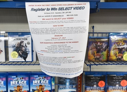 Mohammad Diani is trying to give away his video store by offering an essay writing contest that costs $175 to enter. The best essay gets the store.