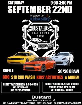 Bustards Charity Car Show On September TheRecordcom - September car shows
