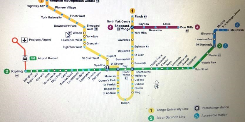 Toronto Bus And Subway Map.The Great Vaughan Toronto Transit Race Will Car Beat Bus Subway