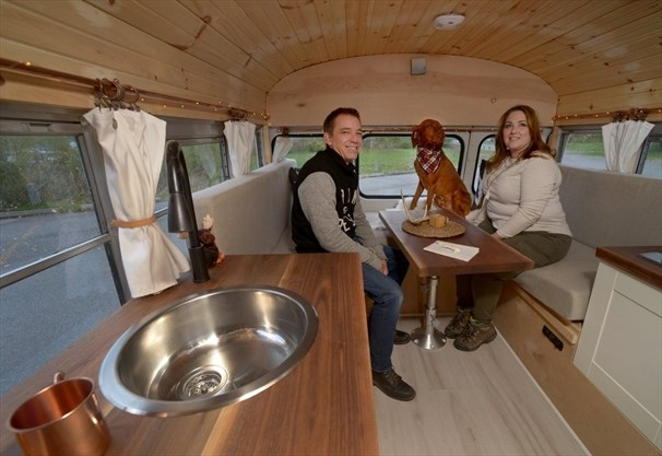 Hamilton family converts bus to camper to see the world | TheSpec com