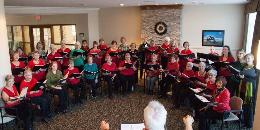 West Ottawa Ladies Chorus sings at Bridlewood Trails Retirement
