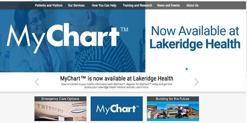 Mychart Is A Part Of The Lakeridge Health Website Users Can Make An Account Online Allowing Access To Their Diagnostic Imaging Reports Lab Results