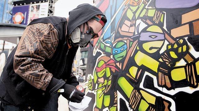 Ninja turtles street art pity