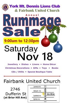 Lions Club Rummage Sale on November 18,2017 | TheSpec com
