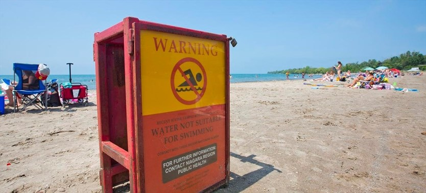 Hot weather brings threat of algae growth on Niagara beaches