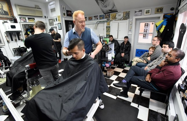 A busy Saturday morning at Alu0027s Barber Shop in the Garage in Br&ton for owner Robert Rutledge and his crew. Nov 18 2017. - Rob Beintema/Metroland & SUNDAY READS: View from the barberu0027s chair | BramptonGuardian.com