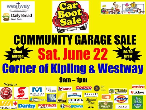Community Garage Sale at Westway Christian Church on June 22