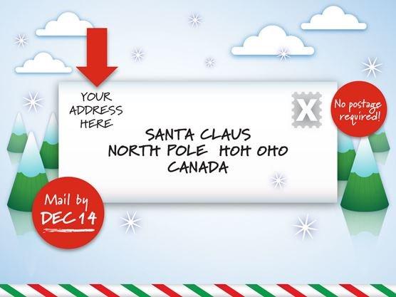 Canada Post Sending Letters To Santa Until Dec 14