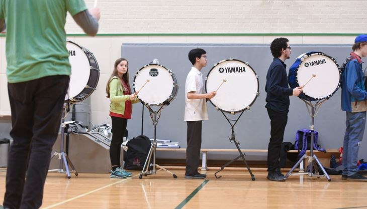 Drum Line GCVI The Inaugural Marching Arts Conference Was Held At Guelph CVI On Monday Bringing Out Around 150 Students From Eight Local Schools To Learn