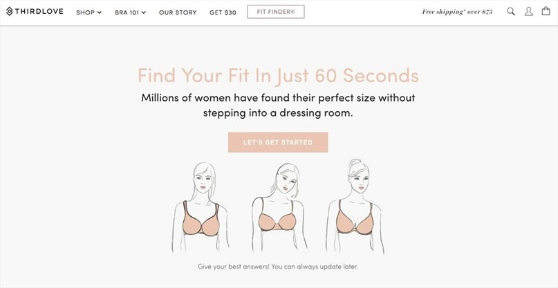 0522858181 Can an online quiz deliver the perfect bra  These Instagram-famous  companies think so