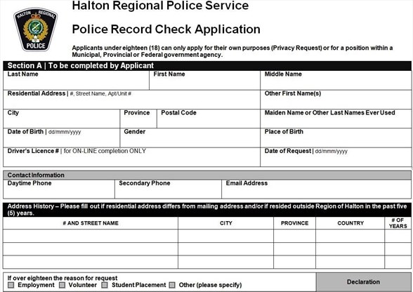 Changes to youth police record check applications