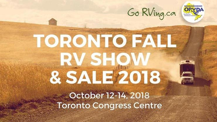 Toronto Fall RV Show & Sale 2018 on October 12,2018