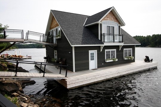 Floating boathouse a modern marvel | MuskokaRegion.com