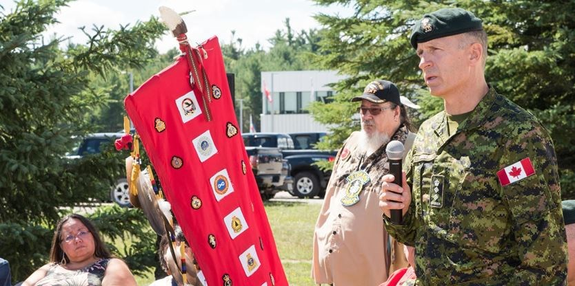 Eagle staff symbol of important relationship between Indigenous communities, CFB Borden ALL%20EagleStaff_Super_Portrait