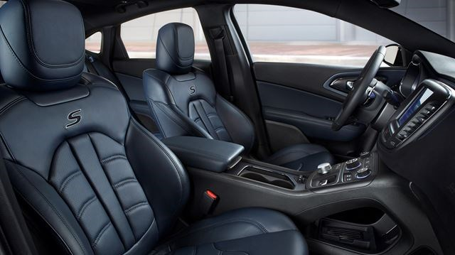 Amazing 2015 Chrysler 200 Ambassador Blue Leather Interior Great Pictures